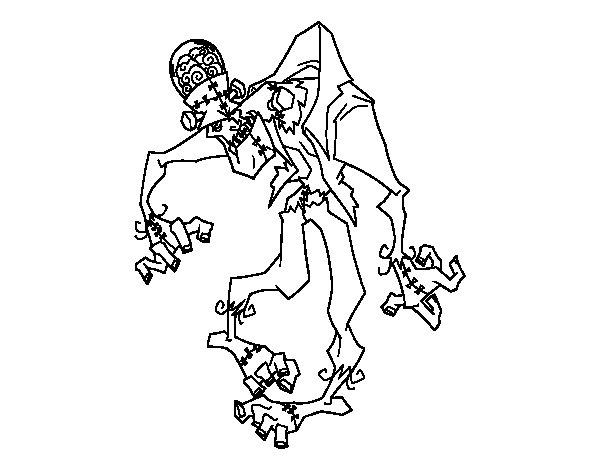 Desenho de Frankenstein zombie para Colorir