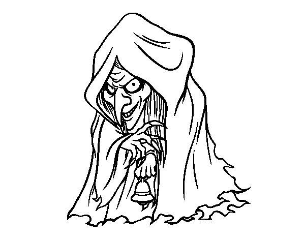Desenho de Frau Perchta para Colorir