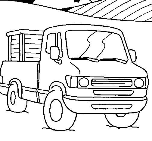 Desenho de Furgoneta para Colorir