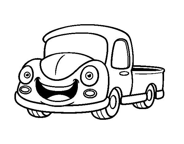 Desenho de Furgoneta feliz para Colorir