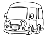 Desenho de Furgonetal clássico para colorear