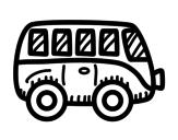Desenho de Furgonetal moderno para colorear