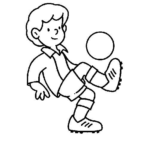Desenho de Futebol para Colorir