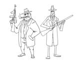 Desenho de Gangsters para colorear