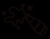 Desenho de Garrafa de Champagne para colorear