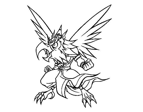 Desenho de Garuda para Colorir