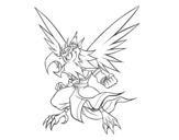 Desenho de Garuda para colorear