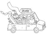 Dibujo de Gatinho entregador