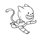 Desenho de Gato rugby para colorear