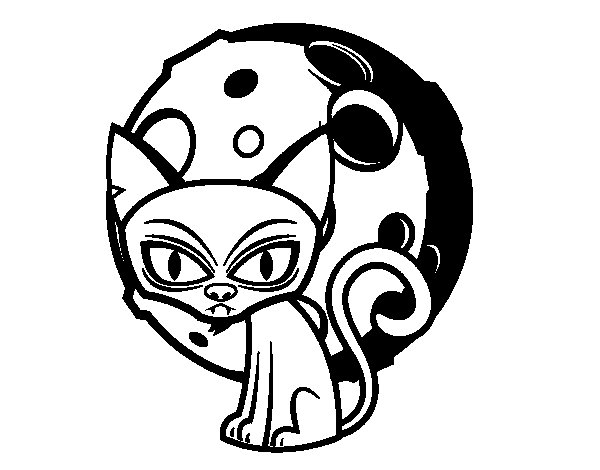 Desenho de Gato tenebroso para Colorir