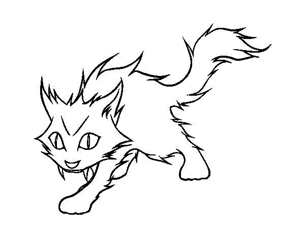 Desenho de Gato Yule para Colorir
