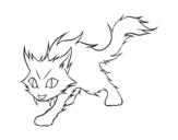 Desenho de Gato Yule para colorear