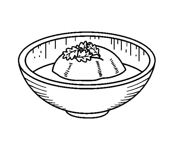 Desenho de Gelado de chá para Colorir