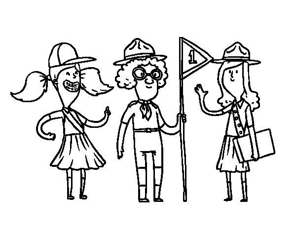 Desenho de Girl Scouts para Colorir