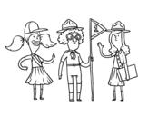Desenho de Girl Scouts para colorear