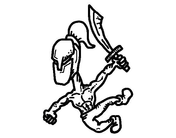 Desenho de Gladiador robusto para Colorir