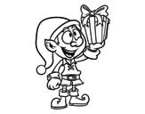 Desenho de Goblin com um presente para colorear