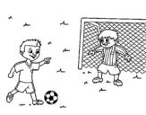 Dibujo de Goleiro de futebol