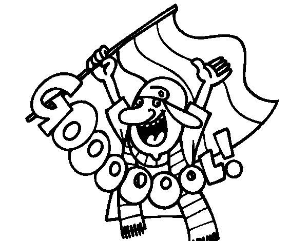 Desenho de Gooooool! para Colorir