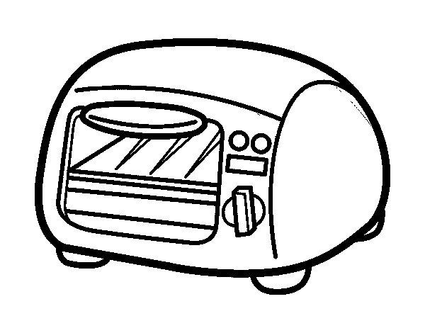 Desenho de grill para colorir - Utensilios de cocina para pintar ...