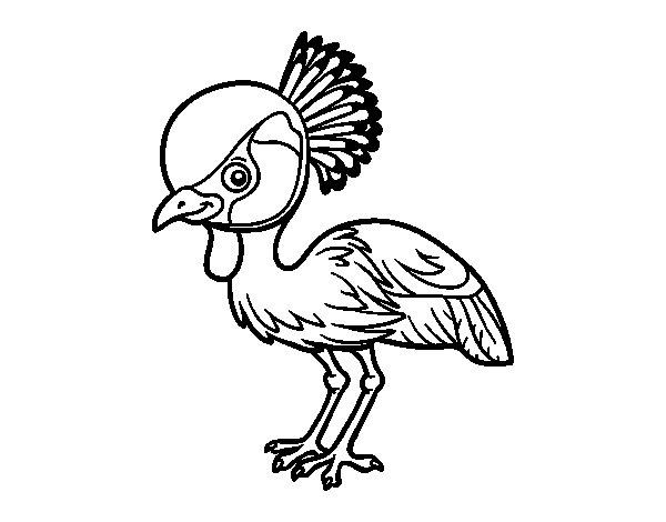 Desenho de Grou-coroado-oriental para Colorir