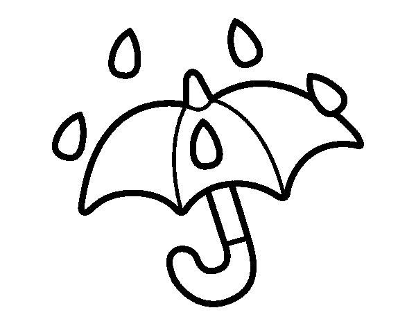Desenho de Guarda-chuva aberto para Colorir