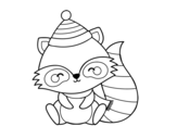 Desenho de Guaxinim quente para colorear