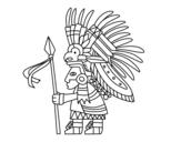 Desenho de Guerreiro asteca para colorear