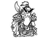 Desenho de Guerreiro chinês Guan Yu para colorear