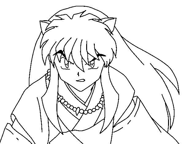 Desenho de Guerreiro InuYasha para Colorir