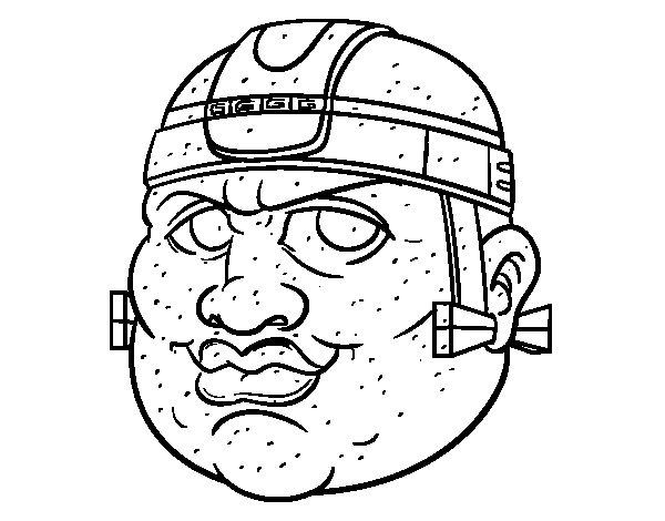 Desenho de Guerreiro maia para Colorir