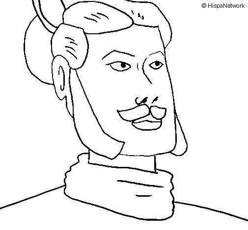 Desenho de Guerreiro xian para Colorir