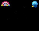 Desenho de Gumball e amigos para colorear