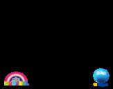 Desenho de Gumball para colorear