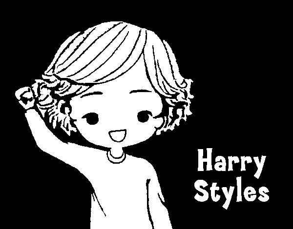 Desenho de Harry Styles para Colorir