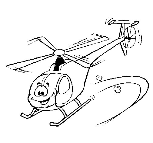 Desenho de Helicóptero para Colorir