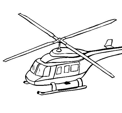 Desenho de Helicoptero 3 para Colorir