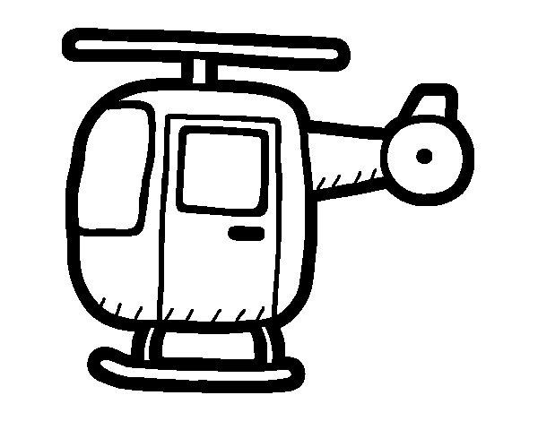 Desenho De Helicóptero Ligeiro Para Colorir