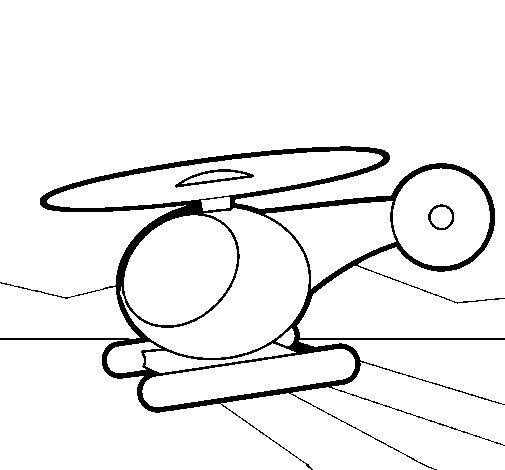 Desenho de Helicoptero pequeno para Colorir