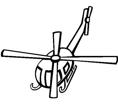 Desenho de Helicoptero V para Colorir