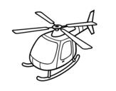 Desenho de Helicóptero voando para colorear
