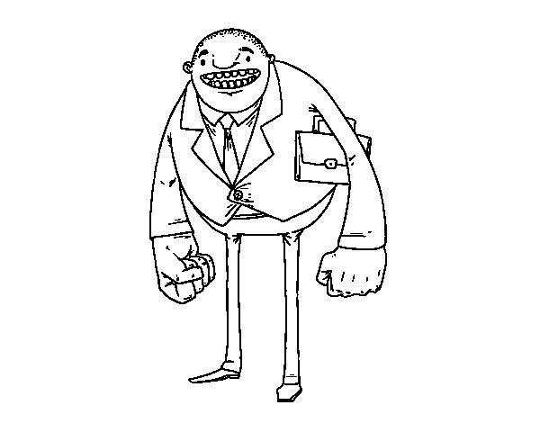 Desenho de Homem de grandes punhos para Colorir