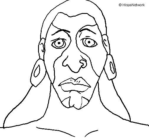 Desenho de Homem maia para Colorir