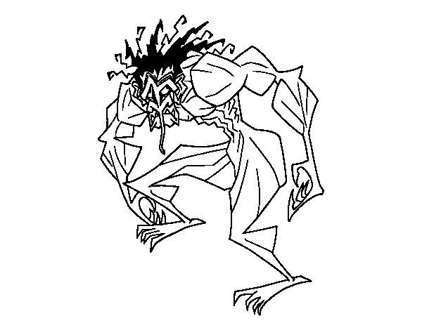 Desenho de Homem troll para Colorir