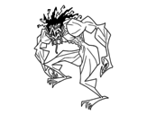 Desenho de Homem troll para colorear