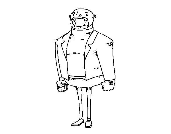 Desenho de Homem vestido moderno para Colorir
