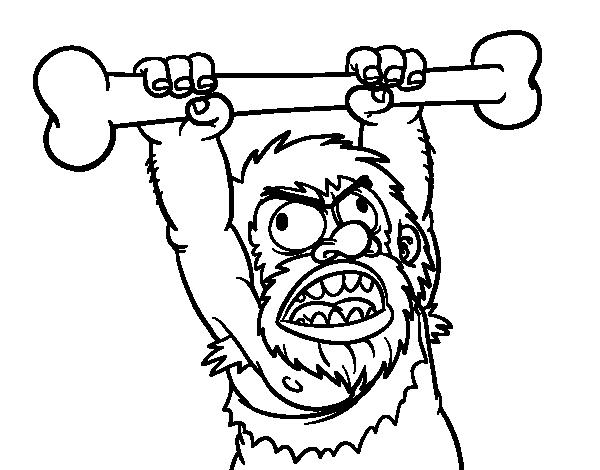 Desenho de Homo sapiens aborrecido para Colorir