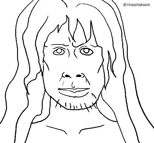 Desenho de Homo Sapiens para Colorir