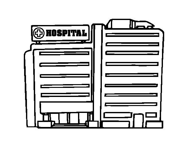 Desenho de Hospital para Colorir