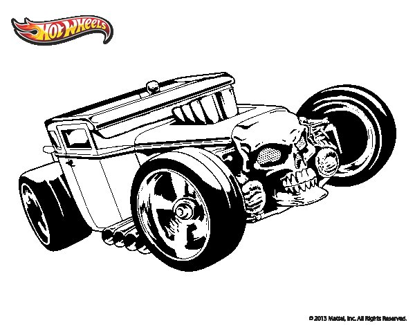 Desenho de Hot Wheels Bone Shaker para Colorir